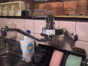キッチン、蛇口の取り替え