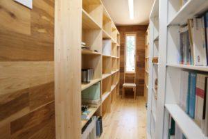 書庫 本棚取付