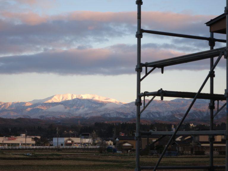 事務所から見る立山