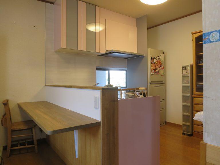 2階L型キッチン工事後