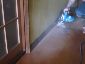 廊下の床リフォーム