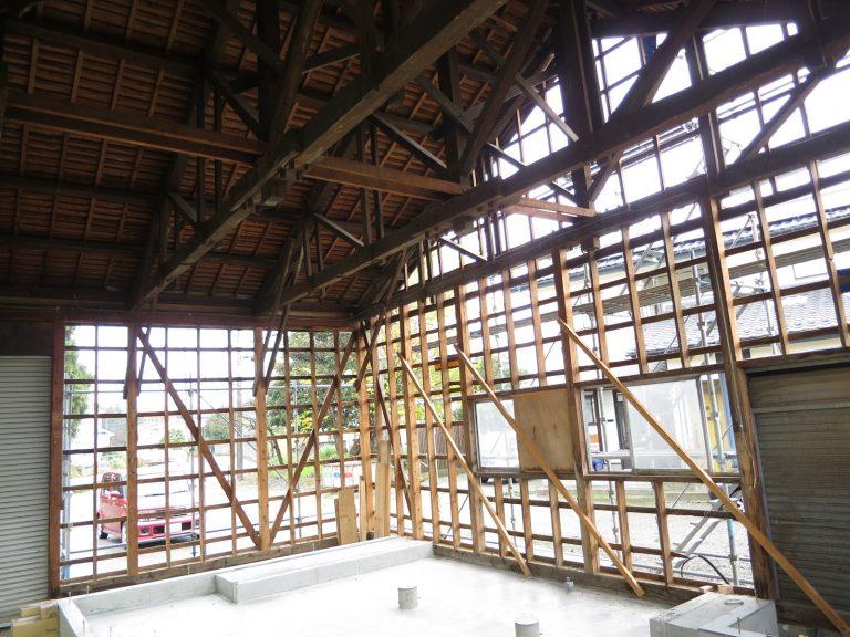 作業場倉庫の改装工事
