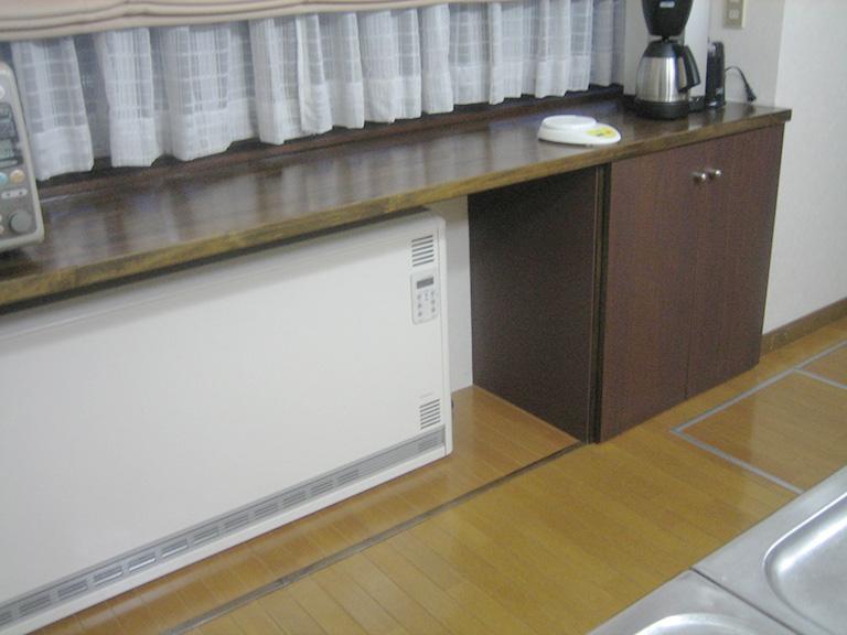 蓄熱式暖房機の設置後