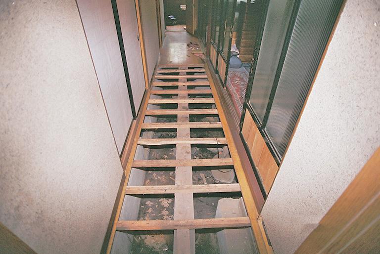 廊下の床改修