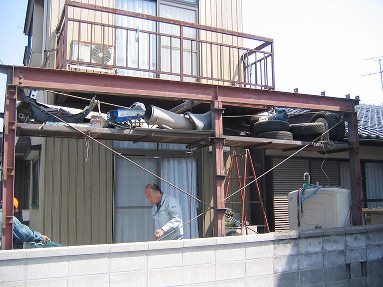 車庫の補修リフォーム工事