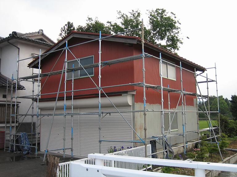 車庫の塗装リフォーム