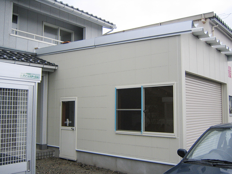 車庫の新築工事