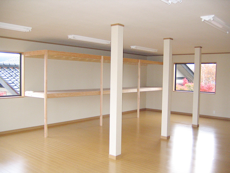 車庫と物置新築