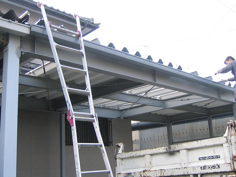 車庫の増築工事