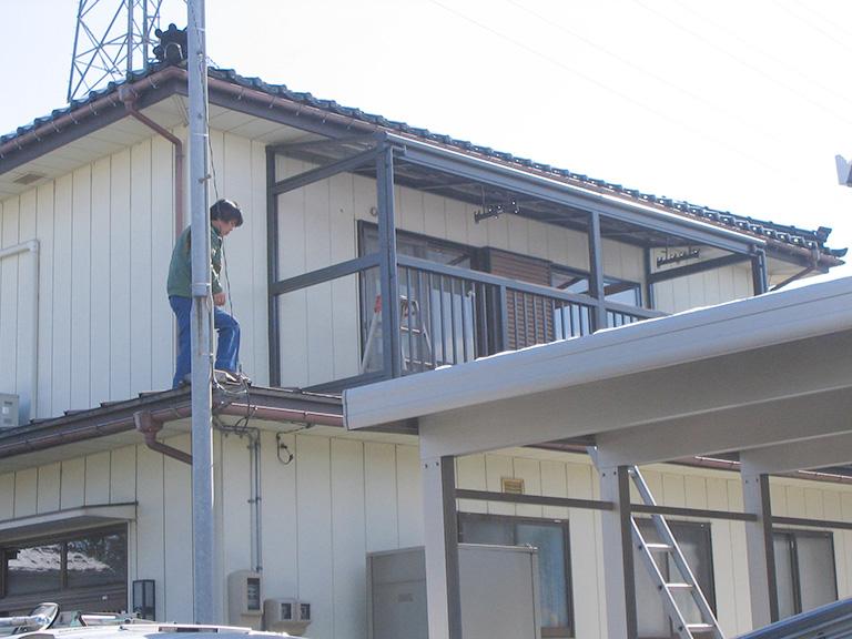 2階の物干し場