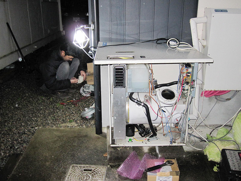 石油ボイラーの修理、取り替え