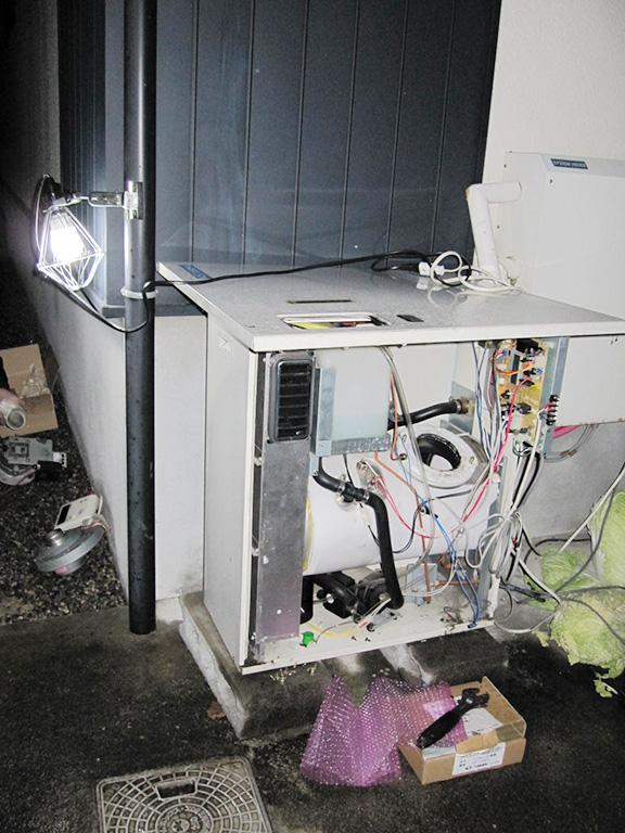 床暖房ボイラーの修理