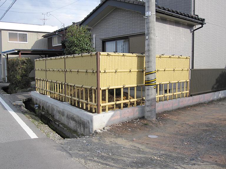 竹垣フェンスへリフォーム工事